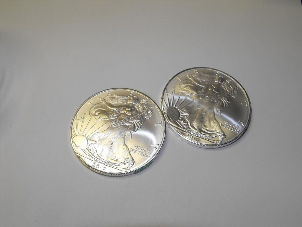 13N: (2) Silver Eagles Random years