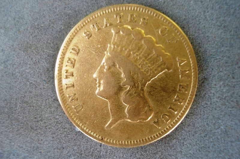 1S: 1874 $ 3 GOLD COIN RARE