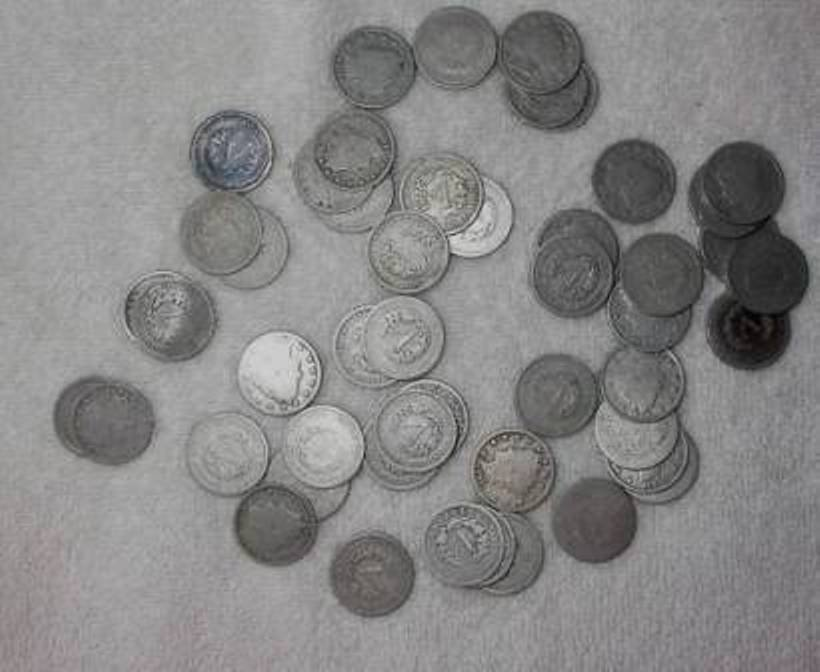 2: Lot of (50) V Nickels