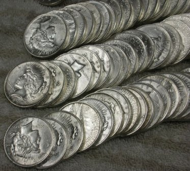 31: Lot of 50 Peace Dollars