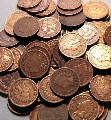 794: Lot of 100 Indian Head Pennies