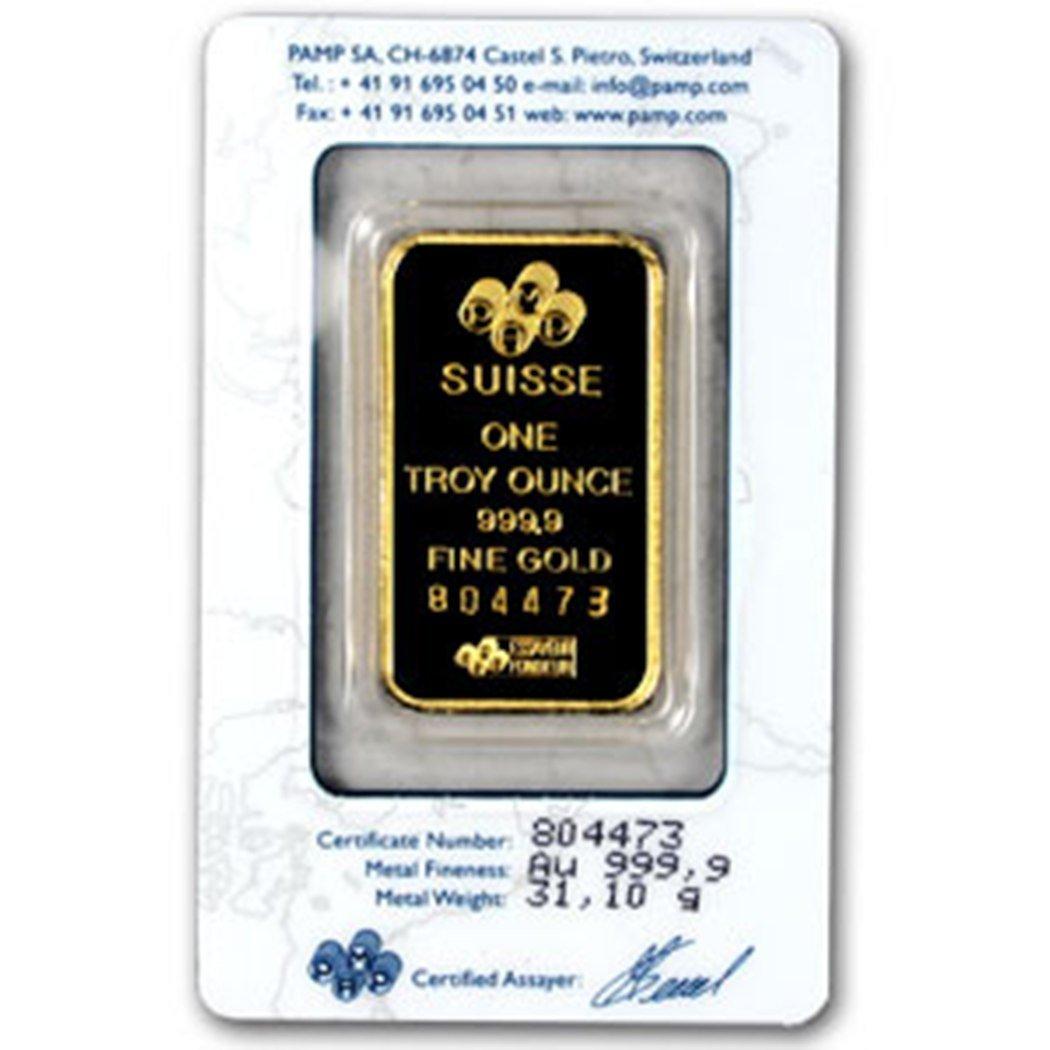 804: Pamp Suisse 1 OZ. Gold Ingot-