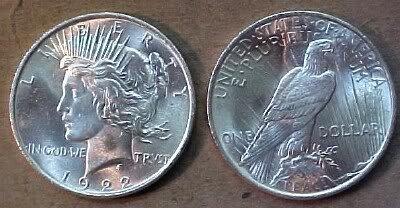 4: Random Common Date Peace Silver Dollar -UNC