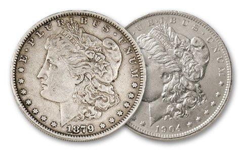 10: First & Last Morgan Silver Dollar Lot