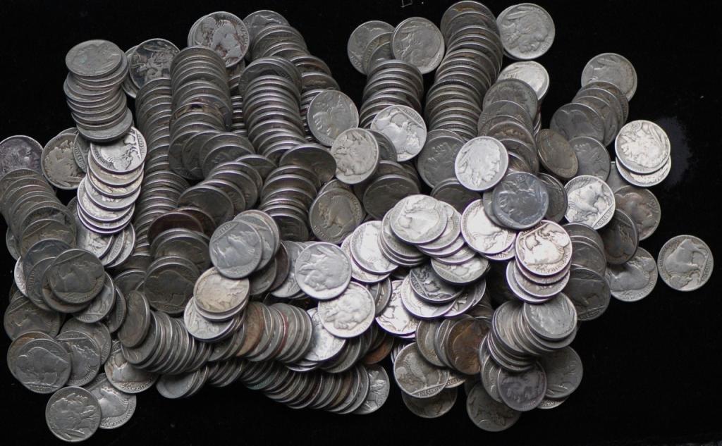 15: Lot of 500 Readable Date Buffalo Nickels