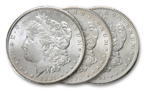 23: Lot of (3) Uncirculated O Mint Morgans-Random