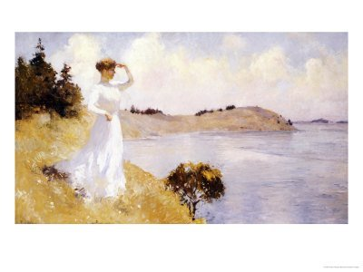 "8P: Frank Weston Benton ""Eleanor on the Hilltop"" 11 x7"