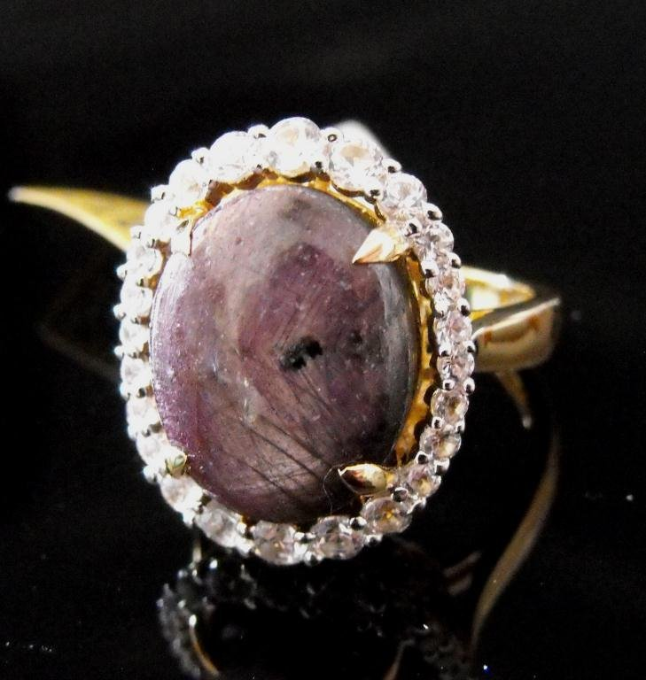 8R: $2,070 GG GIA NATURAL Ruby Ring