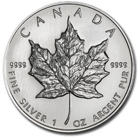 6: 1 oz Silver Maple Leaf Random Date