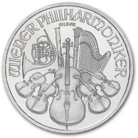 8: 1 oz. Silver Austrian Philharmonic Bullion