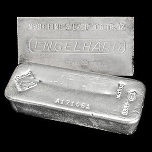 125C: 100 oz Silver bar various maker - Pure