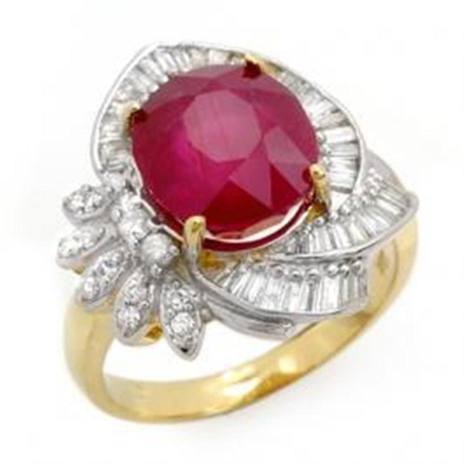 1A: 5.2 ctw Ruby & Diamond Ring 14K