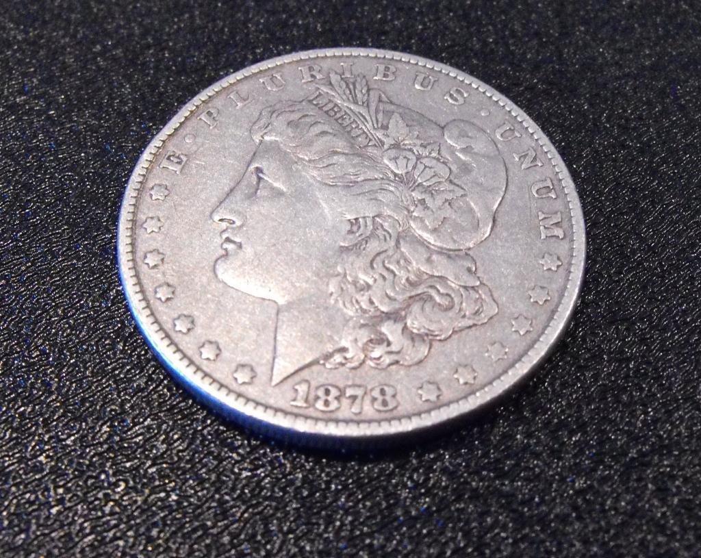 1: 1878 P 7 TF Morgan Silver Dollat