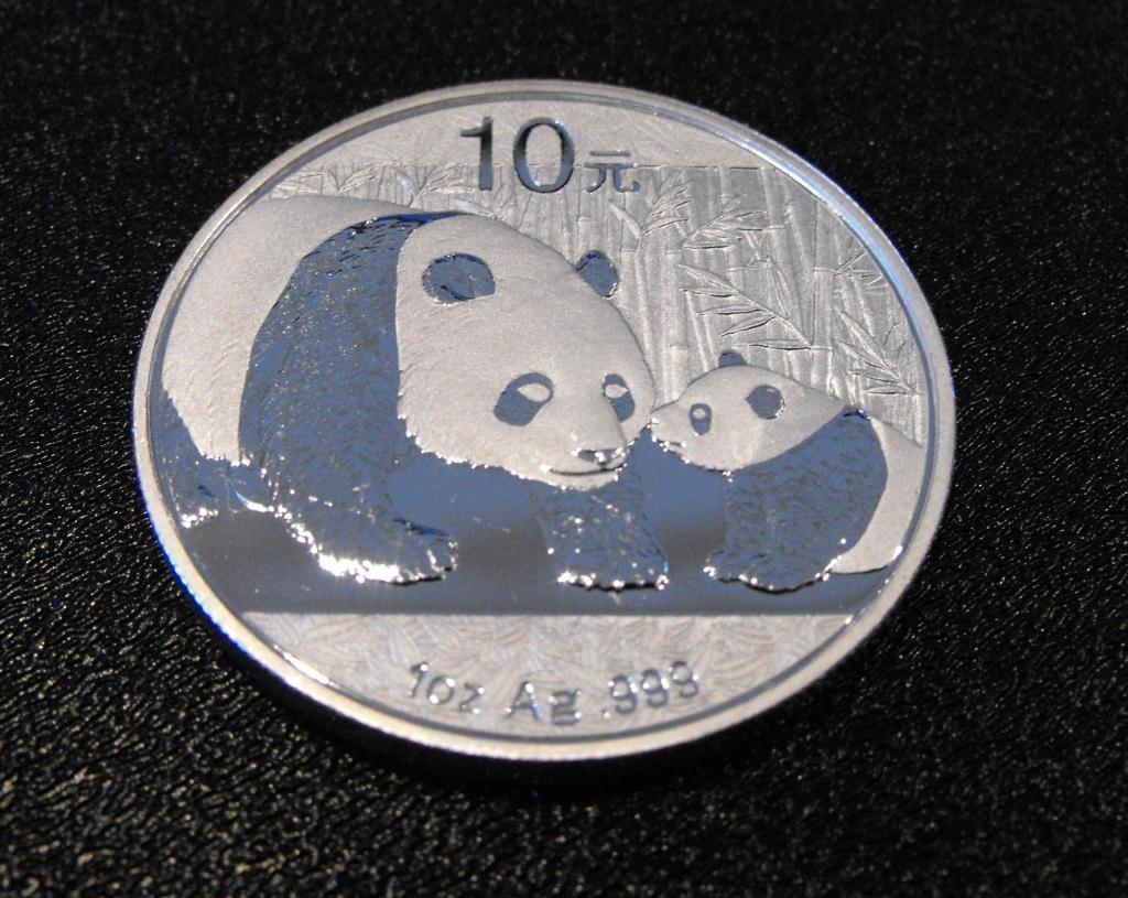 2: 1 oz Pure Silver Panda Bullion