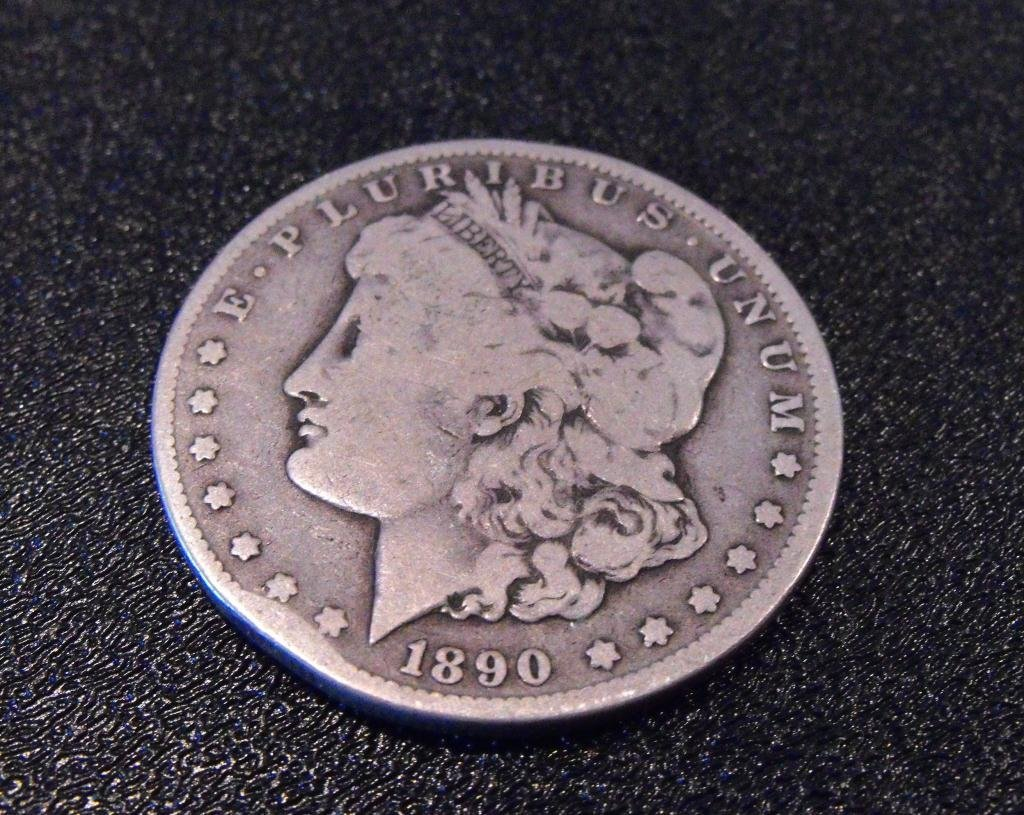 3: 1890 CC Morgan Silver Dollar