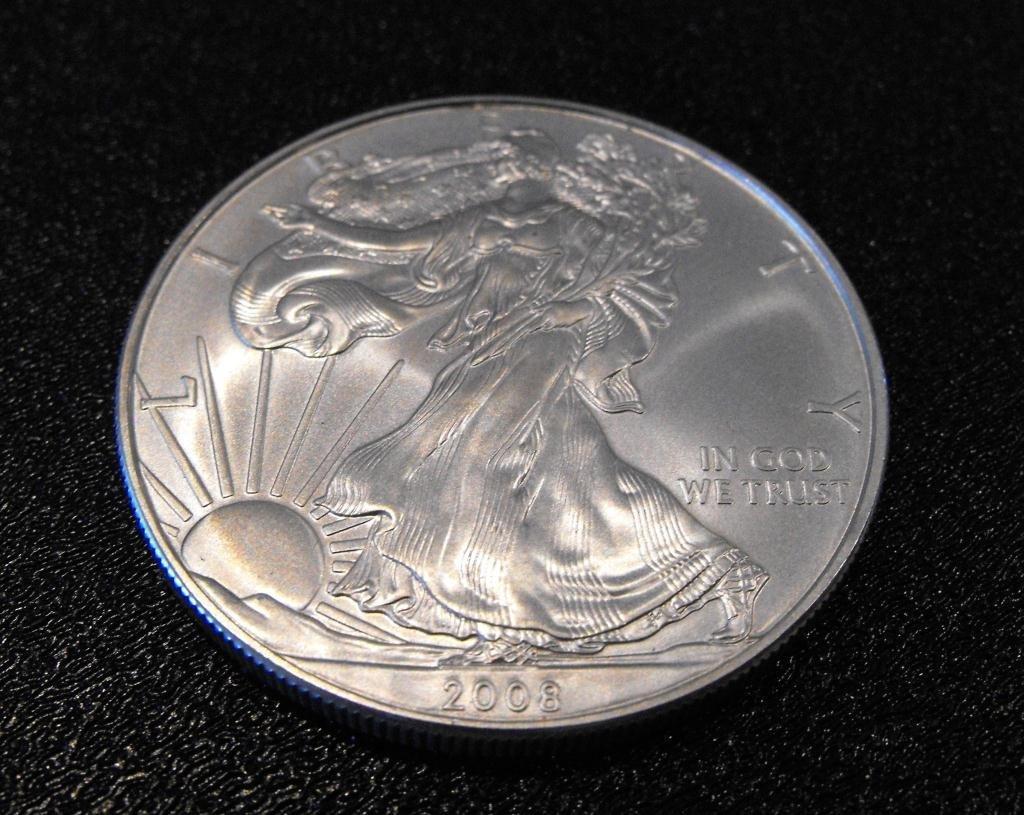 4: 2008 US SIlver Eagle 1 oz. Bullion