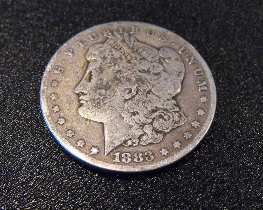 5: 1883 S Key Date Morgan Silver Dollar