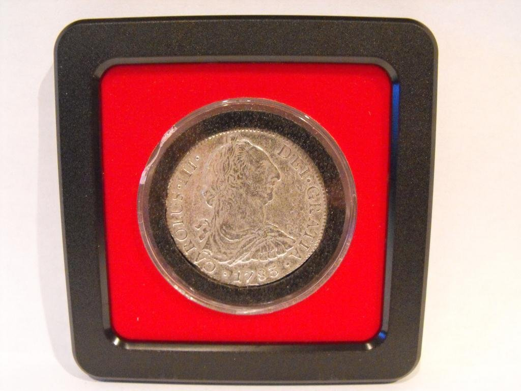 8T: 1783 8 realles 1st US Silver Dollar!!! Treasure