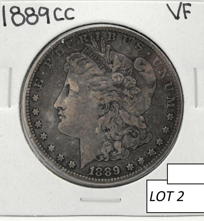 2B: 1889 Carson City KEY DATE RARITY