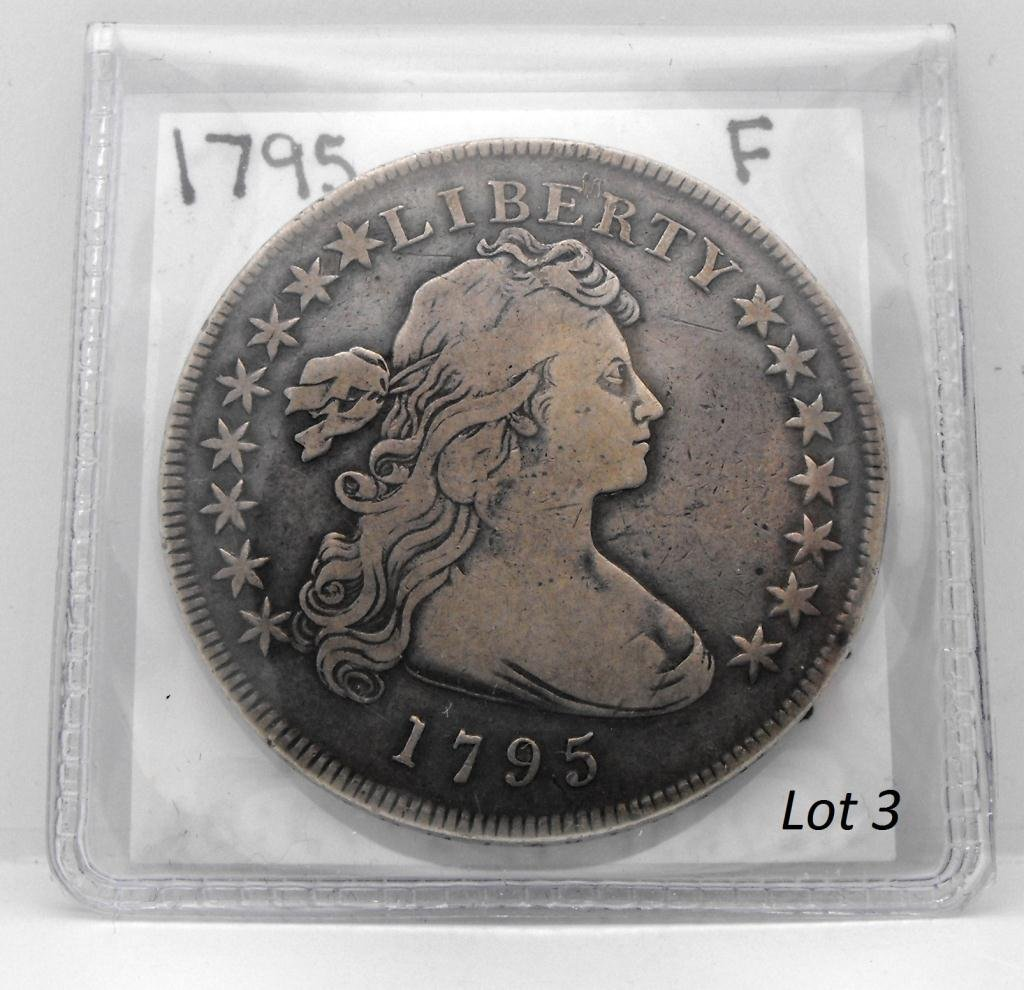 3B: RARE 1795 Flowing Hair US Dollar KEY DATE