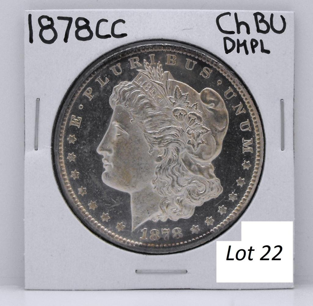 22B: 1878 CC RARE Morgan Dollar - DEEP MIRROR