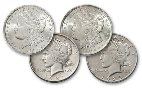 6: Bookend Morgan and Peace Dollar Sets