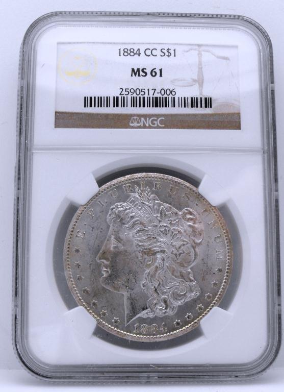 1: 1884 Carson City Morgan NGC MS 61