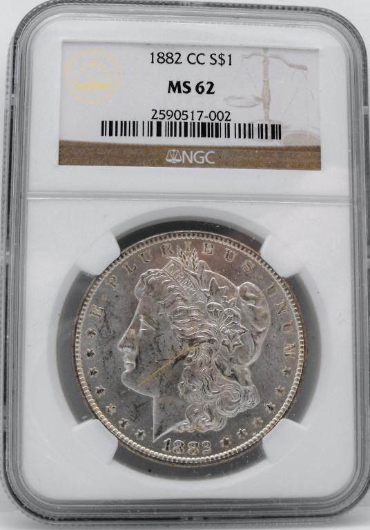 2: 1882 Carson City Morgan  MS 62 NGC