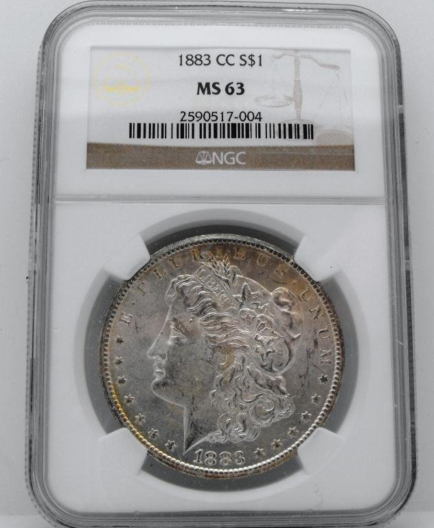 4: 1883 Carson City Morgan MS 63 NGC