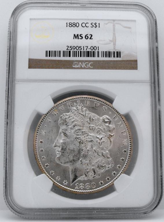5: 1880 Carson City MS 62 Morgan NGC