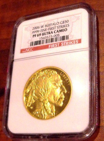 1: 2006 1st Issue Proof 69 Ultra Cameo 24k Gold Buffalo