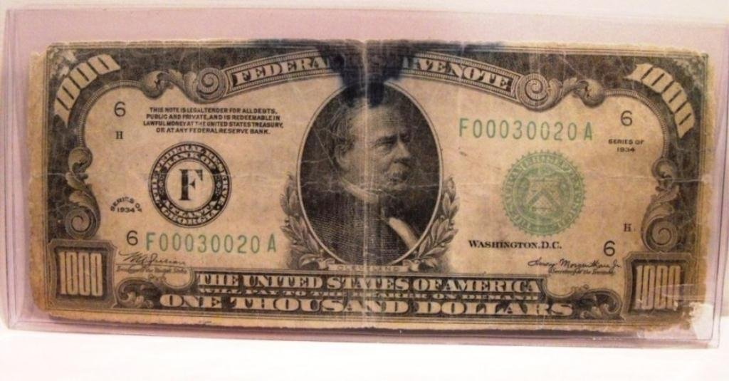2: RARE 1934   $1000 Bill  - Green Seal