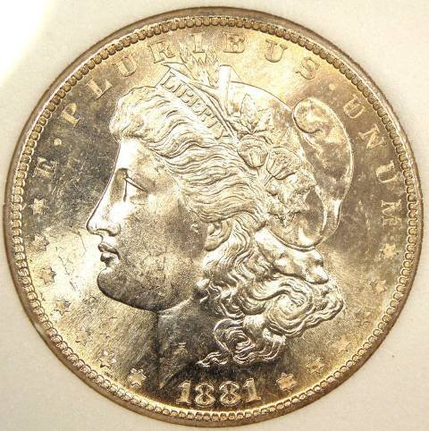 5: 1881 S Proof Like Morgan Dollar