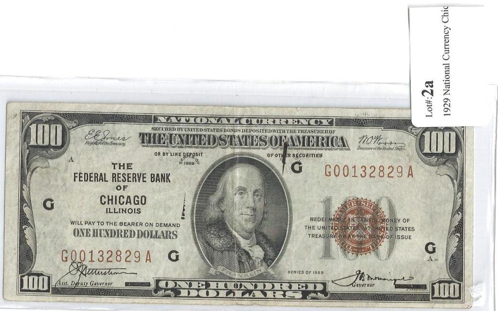 2A: 1929 National Currency Chicago Federal Reserve $10