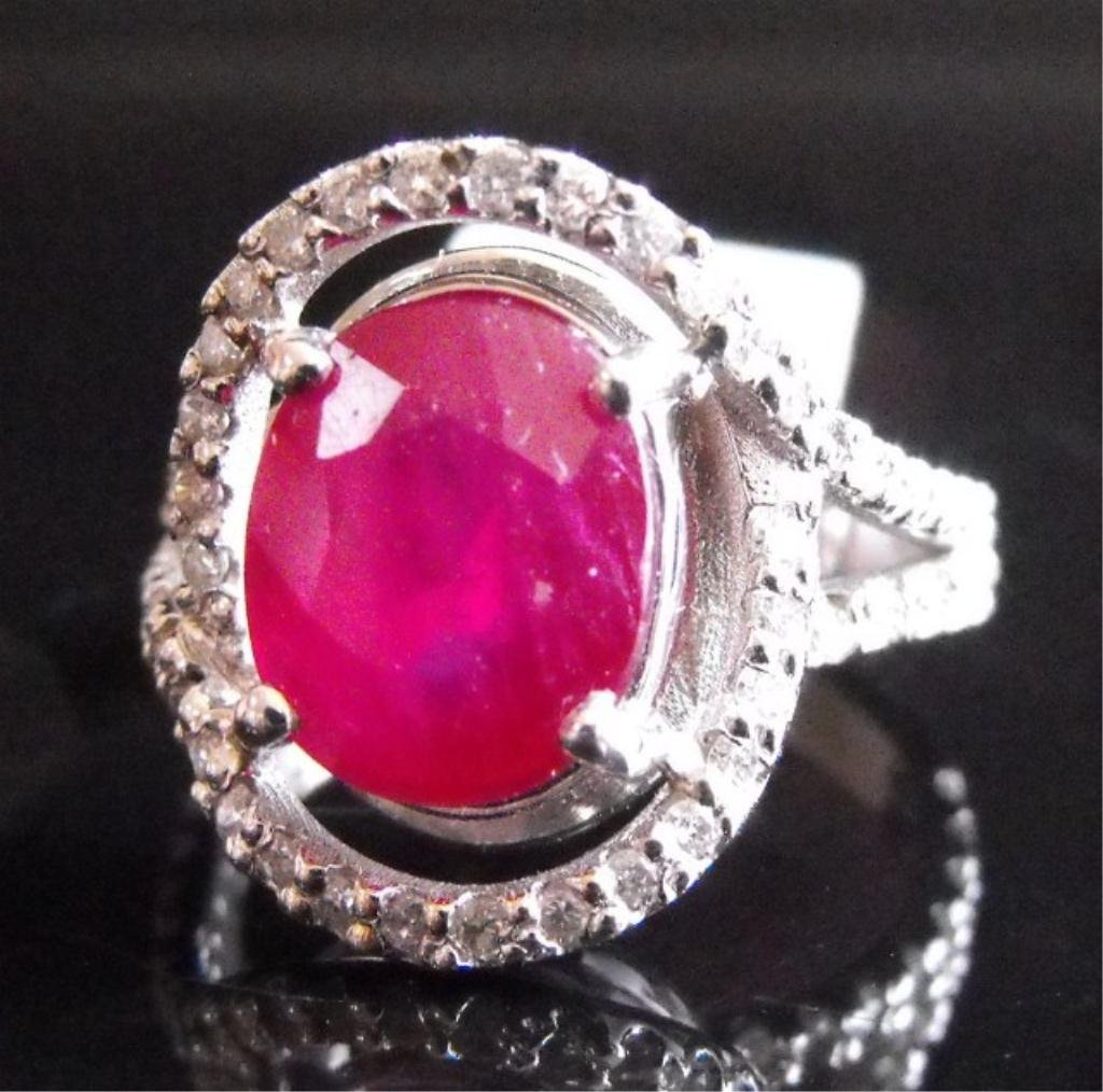 1R: RA- 4.98 tcw Ruby & Dia. 18K Ring $ 5315 MSRP