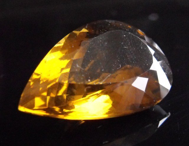 3R: RA- Pear Cut Natural Citrine Gemstone 50.92 ct