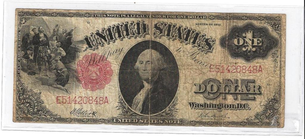 1: 1917 Red Seal Large Silver Certificate