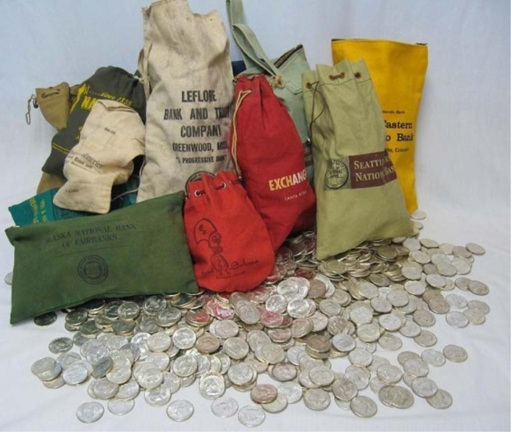 5B: UNSEARCHED BANK BAG (100) MORGAN DOLLARS