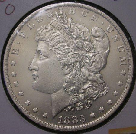 13: 1883 Uncirculated Morgan Silver Dollar