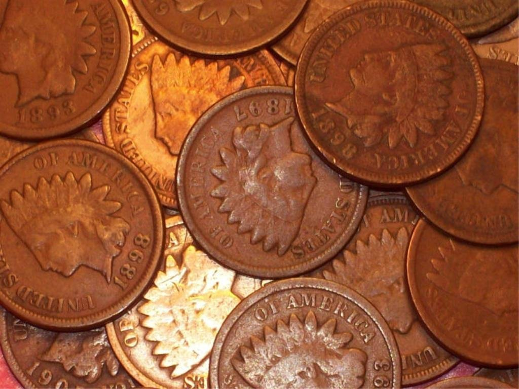 16: Lot of 10 Indian Head Pennies-1900s-cleaned