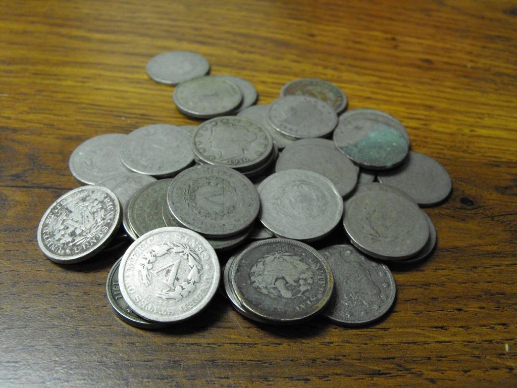 22: Lot of 50 V Nickels