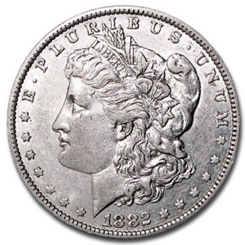 2S: 1882 s PL Surface Morgan