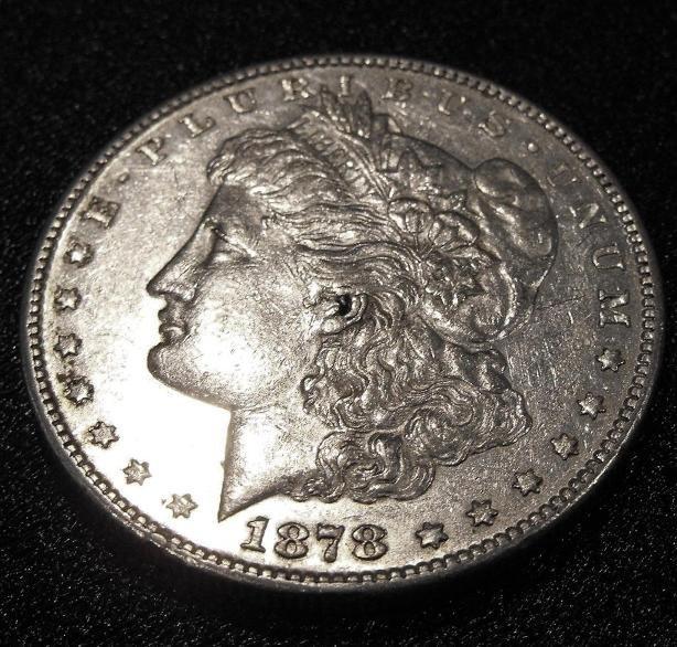4A: 1878 s Morgan Silver Dollar