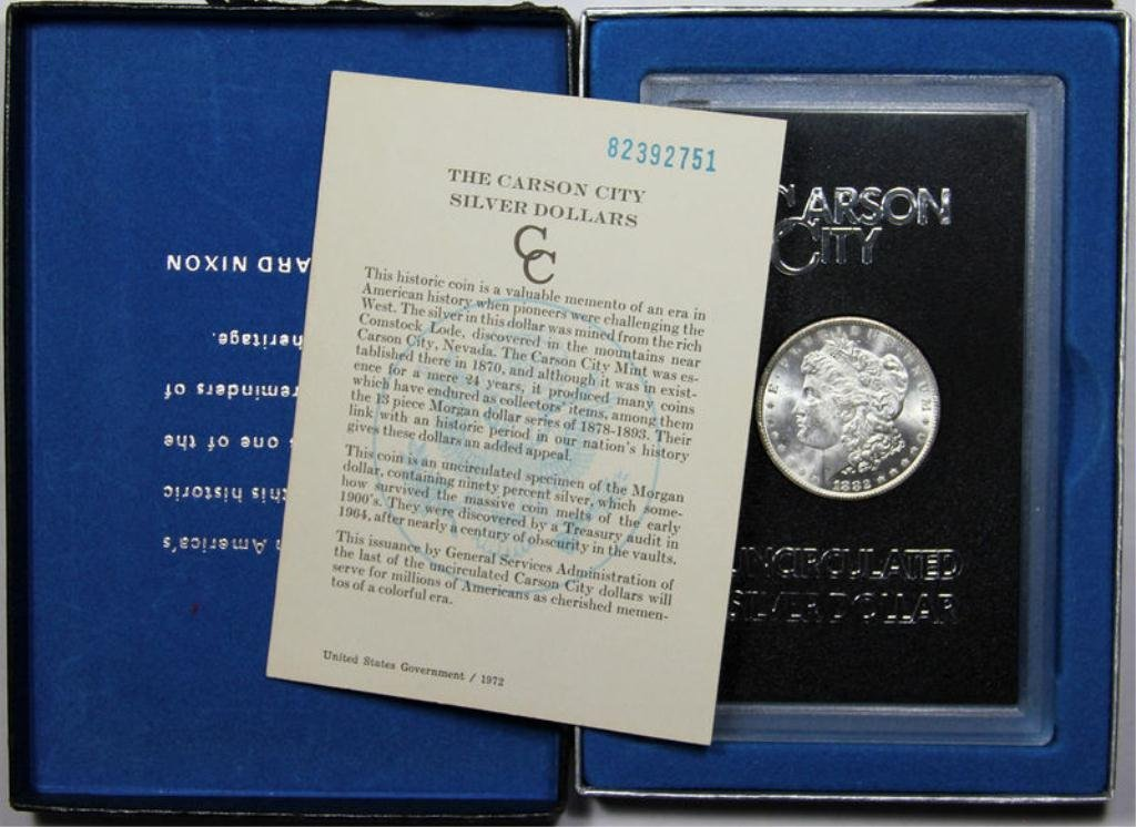 1T: 1882 Carson City Morgan in Box