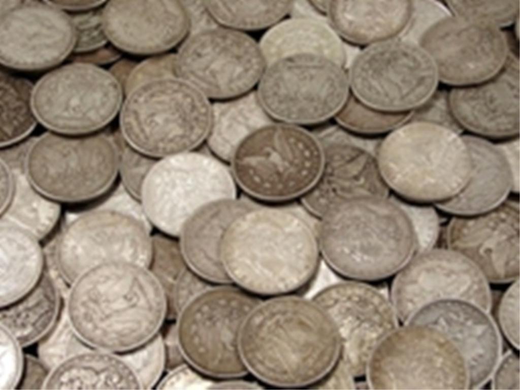 2T: Lot of (50) Morgan Silver Dollars - ag-au