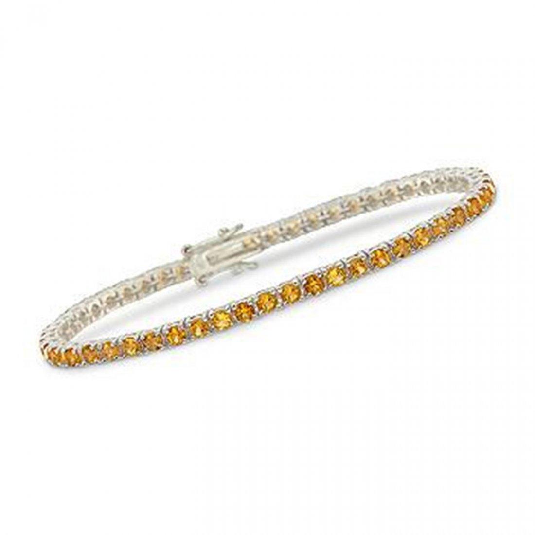 1R: 5.00 ct. t.w. Citrine Tennis Bracelet in Sterling S