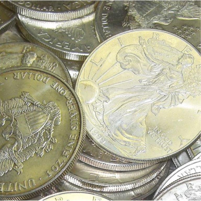 2S: Lot of 20 Random Date Silver Eagles
