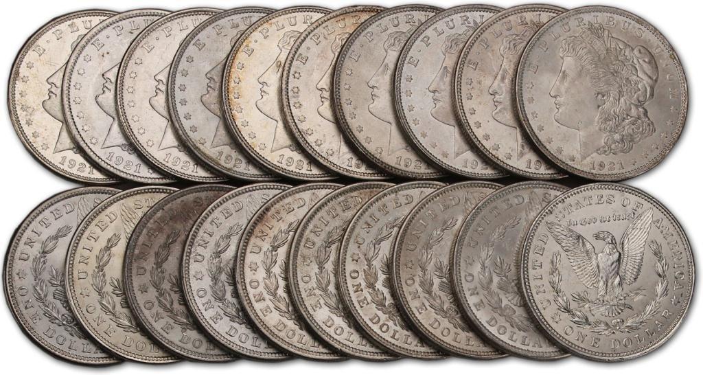 8S: (20) Original Non Circulated Morgan Dollars