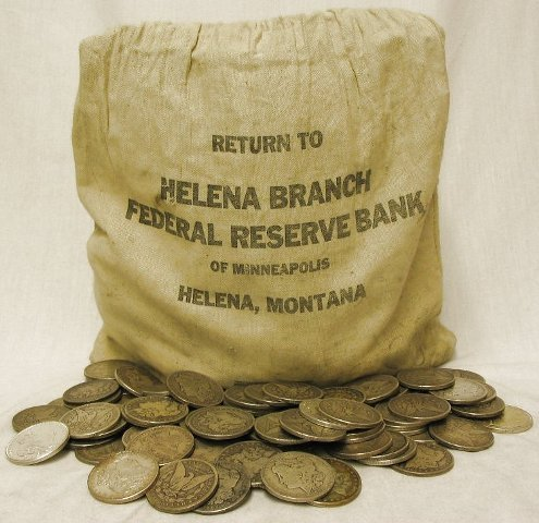 13S: Bank Bag Full of 200 Unsearched Morgans