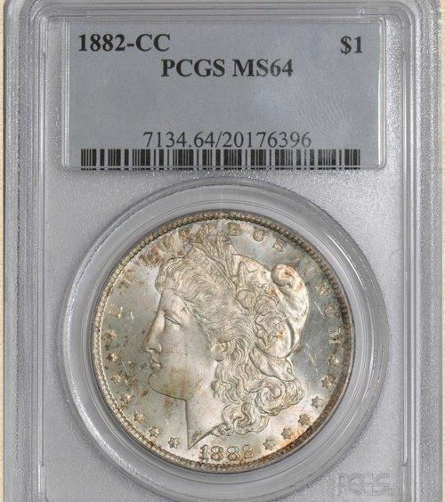 2Z: 1882-CC Morgan $ MS64 PCGS